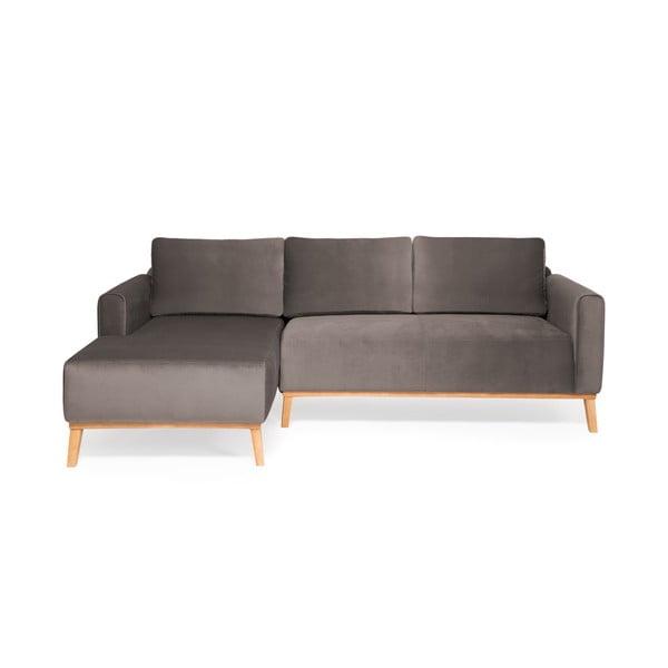 Sivá trojmiestna sedačka ľavý roh Vivonita Milton Trend