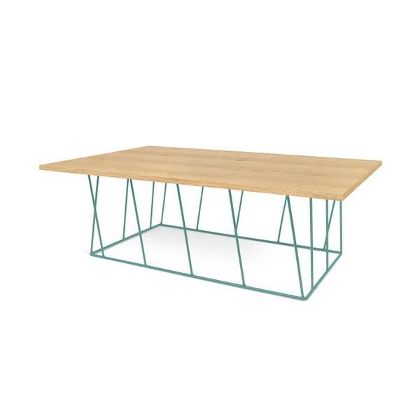 Konferenční stolek se zelenými nohami TemaHome Helix, 120 cm