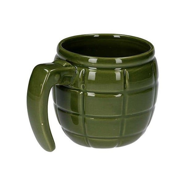 Hrnek ve tvaru granátu, zelený