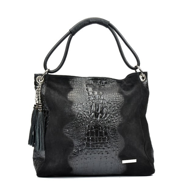 Čierna kožená kabelka Luisa Vannini Dominica