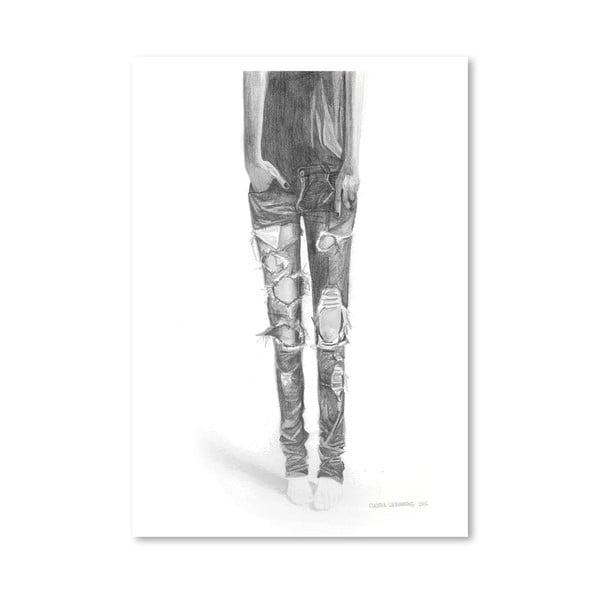 Plakát Ripped Jeans, 30x42 cm