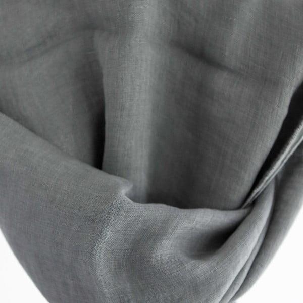 Lněný šátek Luxor 65x200 cm, šedý