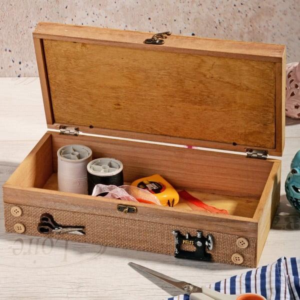 Dřevěný box na šití Naturo