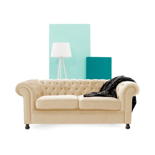 Canapea cu 3 locuri Vivonita Chesterfield, bej deschis