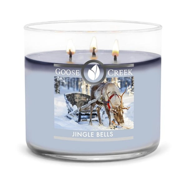 Świeczka zapachowa w szklanym pojemniku Goose Creek Jingle Bells, 35 godz. palenia