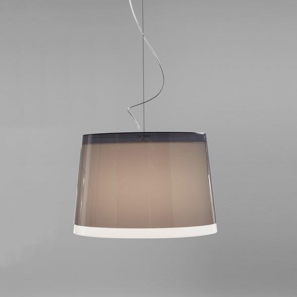 Závěsné svítidlo Pedrali L001S/BB, kouřové transparentní
