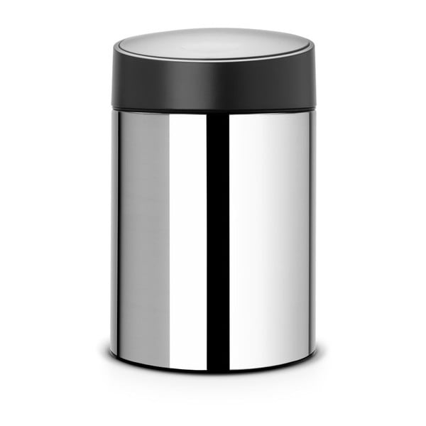 Odpadkový koš Slide Bin, 5 l, stříbrný