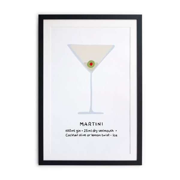 Plakat w ramie Really Nice Things Martini, 40x50 cm