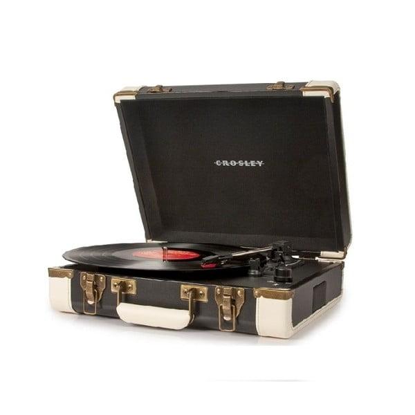Czarno-beżowy gramofon Crosley Cruiser Deluxe