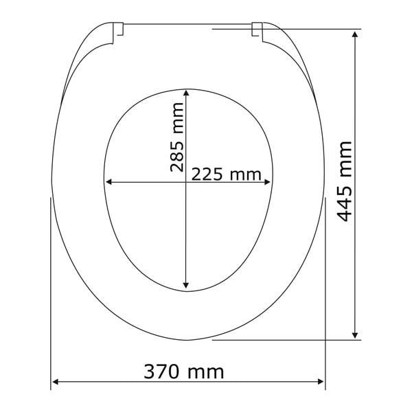 Bílé WC sedátko se snadným zavíráním Wenko Rieti, 44,5 x 37 cm