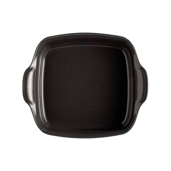 Vas pentru copt din ceramică Emile Henry, 24 x 24 cm, negru