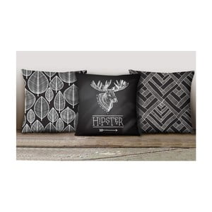 Sada 3 povlaků na polštáře Decorative Cushion Set Duro