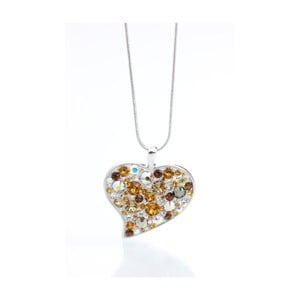 Colier Swarovski Elements Laura Bruni Rich Heart Grenna