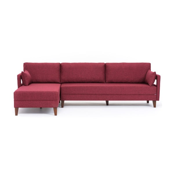 Home Emily borvörös kanapéágy, bal sarok - Balcab