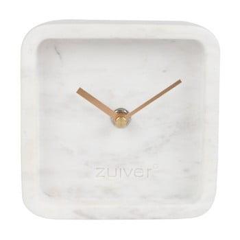 Ceas De Perete Din Marmura Zuiver Luxury Time, Alb