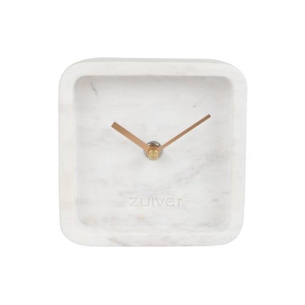 Bílé nástěnné mramorové hodiny Zuiver Luxury Time