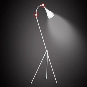 Bílá volně stojící lampa Glimte Piko II White