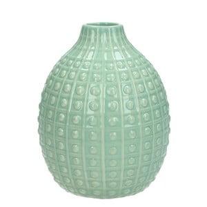 Mentolově zelená keramická váza HF Living Azuro Lilly