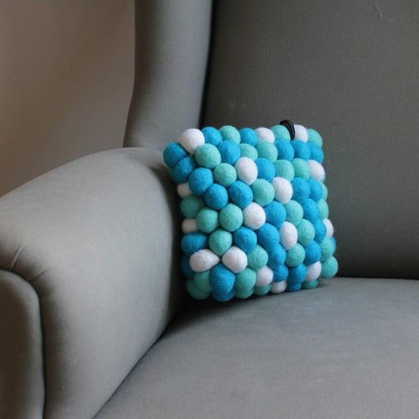 Ručně vyrobený kuličkový polštářek Pastel Mint