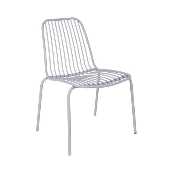 Szare krzesło odpowiednie na zewnątrz Leitmotiv Lineate
