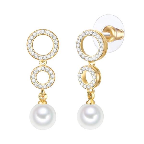 Perlové náušnice Nova Pearls Copenhagen Goldie Marion