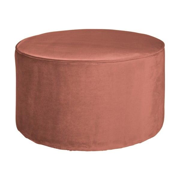 Růžový puf WOOOD Sara, ⌀ 60 cm