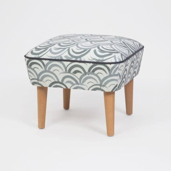 Taburet s drevenými nohami Damo Mimar, 45 × 45 cm