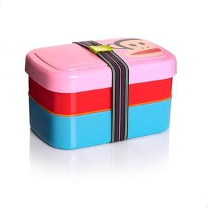 Dvoupatrový svačinový box Paul Frank, růžový