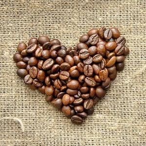 Obraz Kávové srdíčko, 28x28 cm