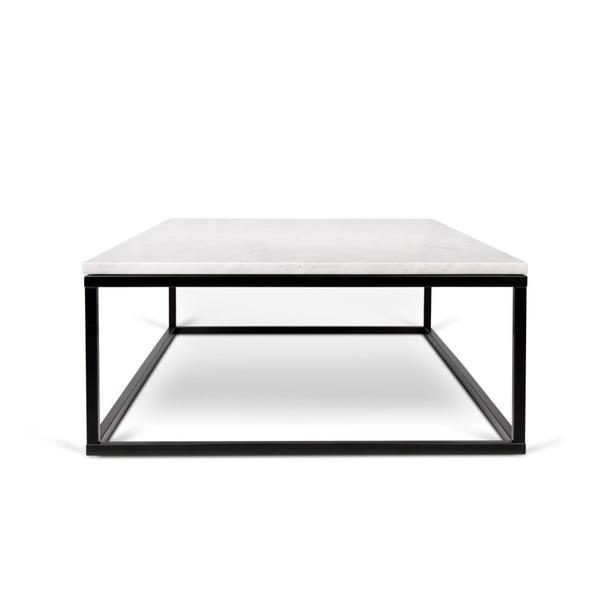 Konferenční stolek s černým podnožím a bílou mramorovou deskou TemaHome Prairie, šířka120cm