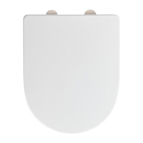Bílé toaletní prkénko Wenko Exclusive Laufen Pro