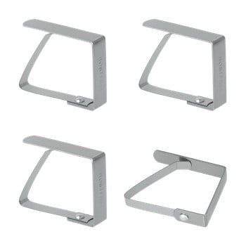 Set 4 suporturi din inox pentru șervețele Metaltex Napkin imagine