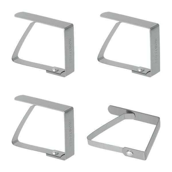 Set 4 suporturi din inox pentru șervețele Metaltex Napkin