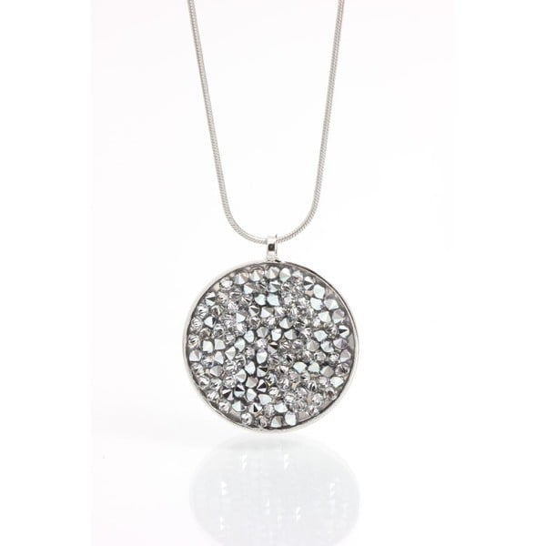 Naszyjnik z kryształami Swarovski Laura Bruni Circle Crystal
