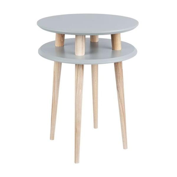 Odkládací stolek UFO 61x45 cm, tmavě šedý