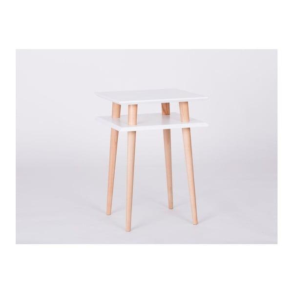 Konferenční stolek UFO Square White, 43 cm (šířka) a 61 cm (výška)