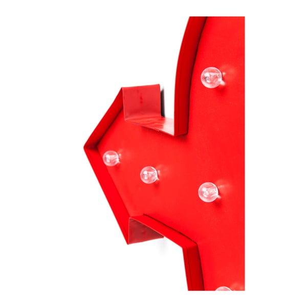 Červená nástěnná svítící dekorace Kare Design Amore