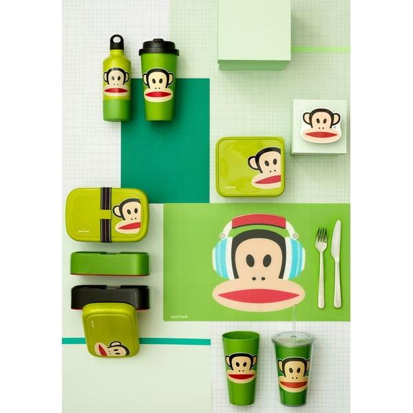 Dvoupatrový svačinový box LEGO® Paul Frank, zelený