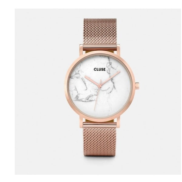 La Roche Mesh női karóra arany-rózsaszín rozsdamentes acélból, márvány óralappal- Cluse
