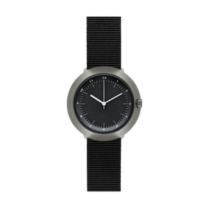 Hodinky Black Fuji Black Nylon, 43 mm