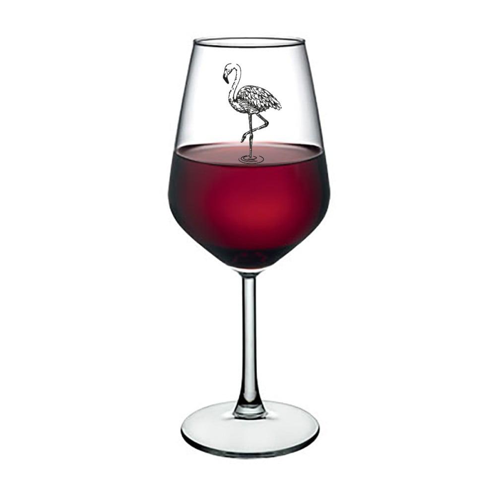 Sklenice na víno Vivas Flamingo, 345 ml