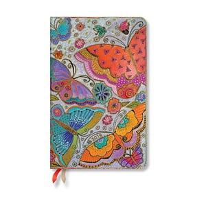 Diář na rok 2019 Paperblanks Flutterbyes, 13,5 x 21 cm
