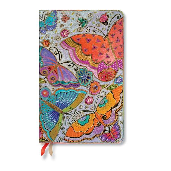Flutterbyes 2019-es határidőnapló, 13,5 x 21 cm - Paperblanks