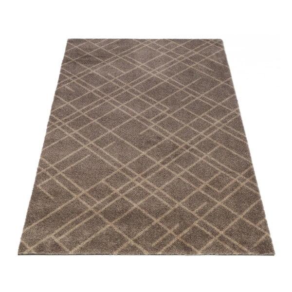 Hnědobéžová rohožka tica copenhagen Lines, 60x90cm