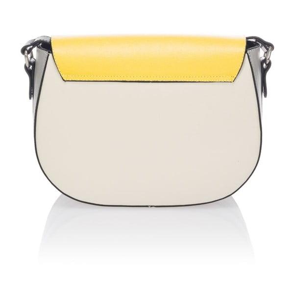 Kožená kabelka Krole Karina, žlutá
