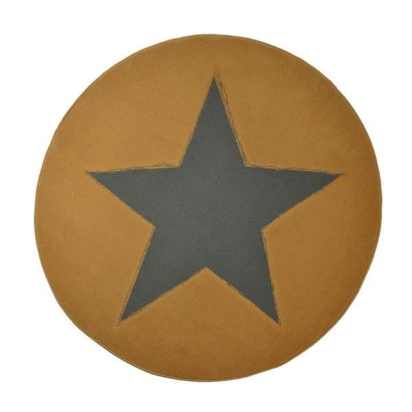 Koberec City & Mix - karamelová plná hvězda, 140 cm
