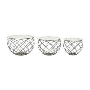 Set 3 măsuțe de cafea Kare Design Wire Grid