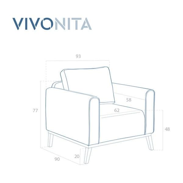 Tmavě modré křeslo Vivonita Milton