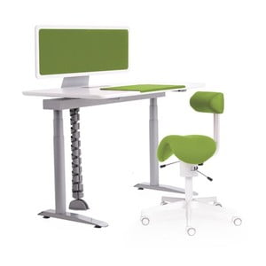 Ergo stůl, zelený