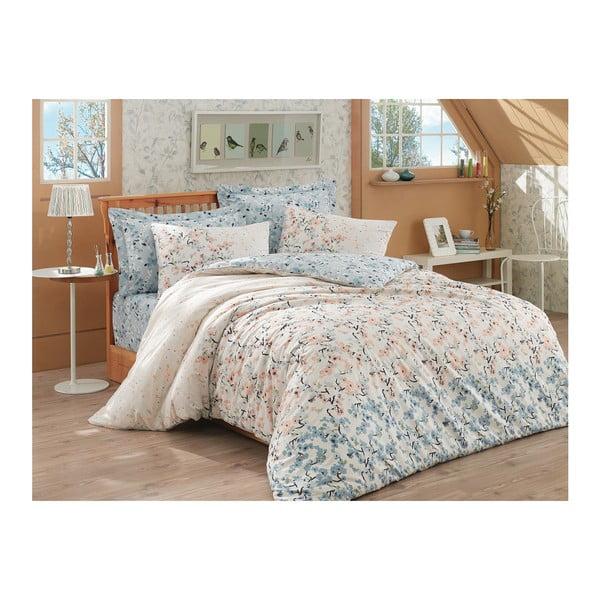 Lenjerie de pat cu cearșaf Tanya, 200 x 220 cm